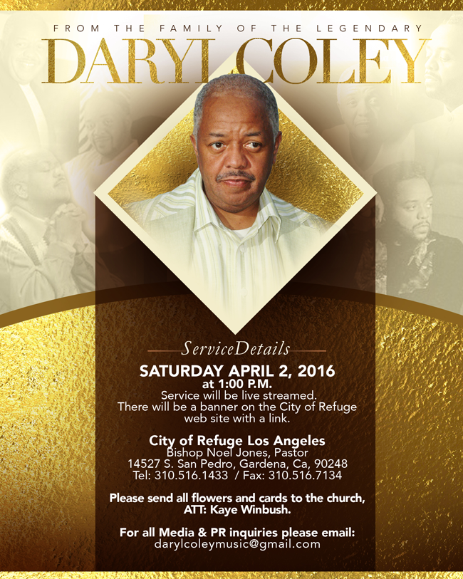 daryl coley homegoing